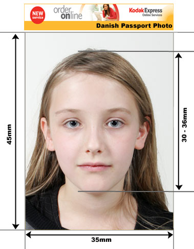 Danish Passport Photo